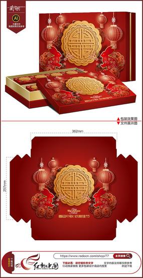 红色喜庆中秋节包装设计