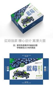 精品蓝莓包装盒设计