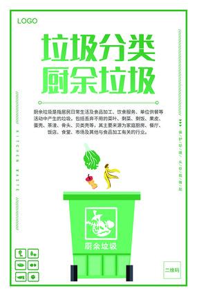 垃圾分类知识厨余垃圾分类宣传海报
