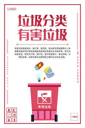 垃圾分类知识有害垃圾分类宣传海报