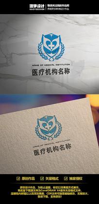 蓝色医科院校医疗卫生防疫机构Logo设计