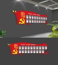 社区党的历程光辉历程党建文化墙