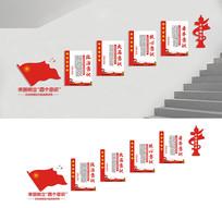 四个意识党建楼梯展板