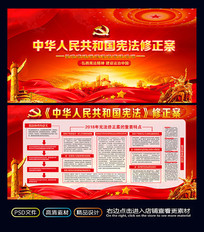 中华人民共和国宪法修正案展板