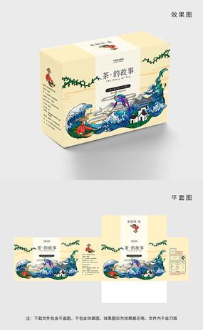 原创高端手绘茶叶包装