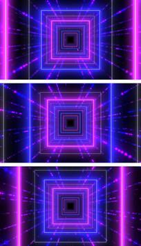 4K彩色粒子线动感闪烁模特灯光秀舞台背景视频素材