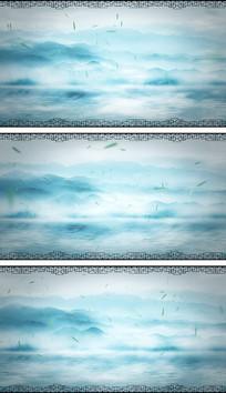 4K水墨中国风烟波浩渺通用视频素材