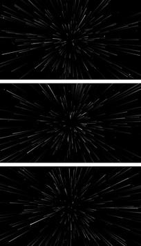 4K星空冲刺粒子线条叠加背景元素视频素材