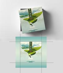 高端茶叶高山绿茶包装盒设计