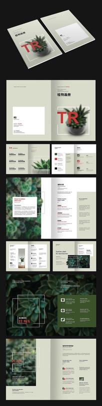 清新绿色植物画册