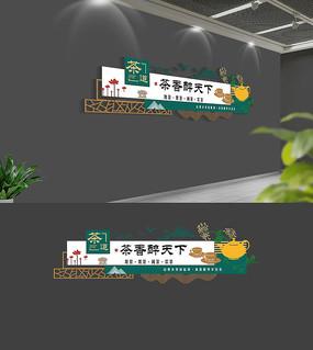 社区茶道文化墙