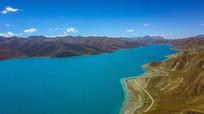 高山美景蓝色湖泊美丽自然风景