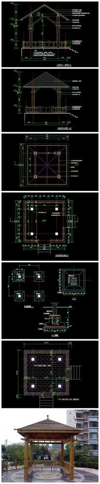 精品木亭子CAD施工图