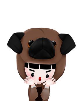 原创可爱搞怪咖啡色动物服装