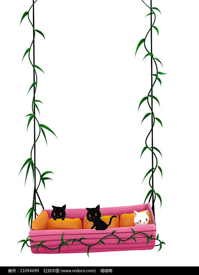 原创可爱卡通动物睡床吊蓝猫咪