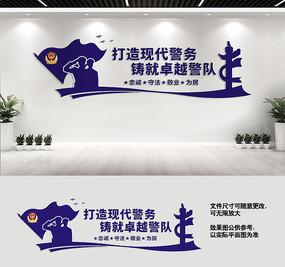 警营文化墙宣传标语