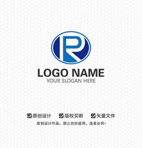 RP字母科技商业LOGO设计
