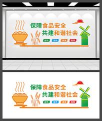 保障食品安全文化墙设计