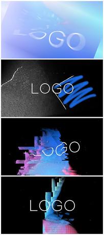 故障logo片头视频模板