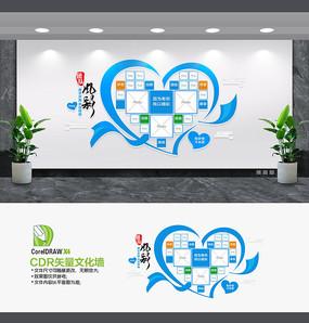 蓝色企业文化墙照片墙