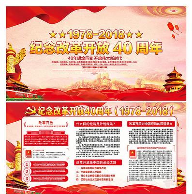 中国改革开放40周年宣传展板