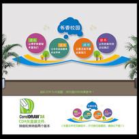 大气创意创新书香校园文化墙设计