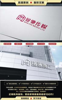 原创铭城地产曼驰传媒LOGO设计