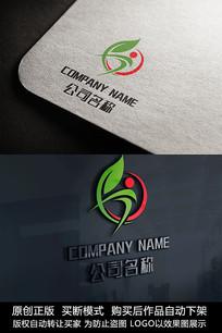 绿色健康logo标志公司商标设计