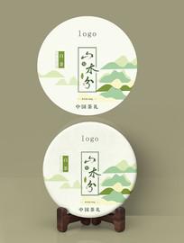 小清新高山茶饼包装