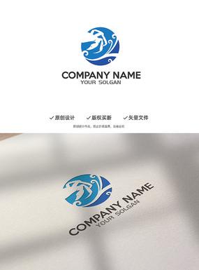 螃蟹海洋海鲜创意标志