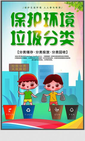 保护环境垃圾分类公益海报设计