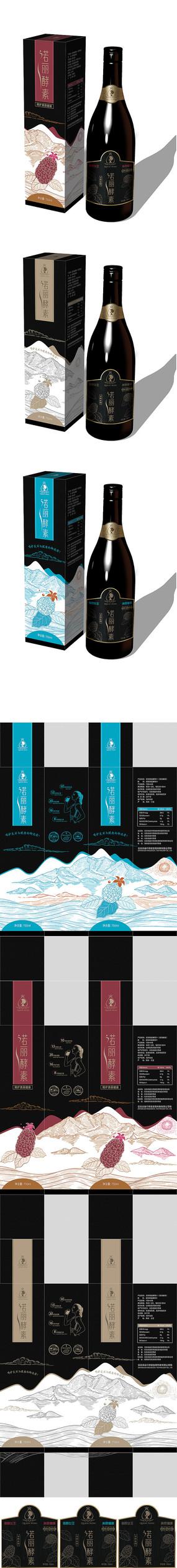 诺丽酵素饮料包装设计