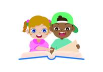 外国儿童读书