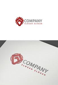 字母G安全Logo设计