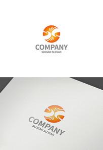字母xj标志设计