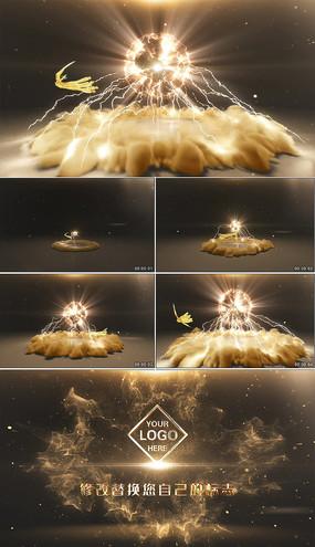 大气震撼凤凰logo演绎AE模板