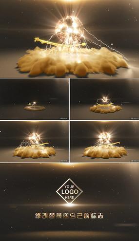 大气震撼中国龙logo演绎AE模板