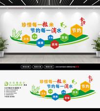 立体食堂文化墙设计