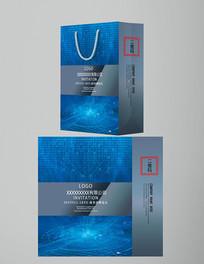 企业科技大数据手提袋设计1
