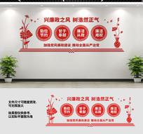 廉政文化长廊文化墙标语