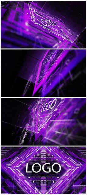 HUD科技logo視頻模板