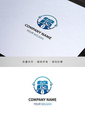汉字龙教育类标志设计