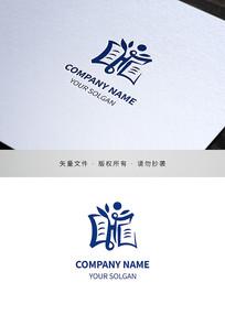 汉字龍校徽logo设计