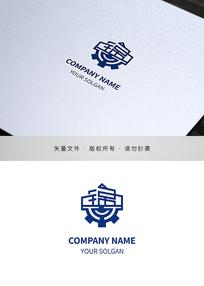 锦字地产服务类标志设计