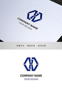 字母AX标志设计
