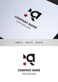 字母Aa艺术类标志设计