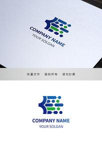 字母B电子电器类标志设计