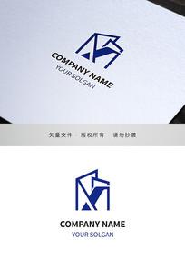 字母X房地产建筑类标志设计