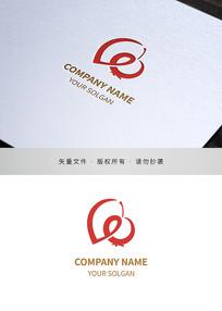 字母le坚果水果零食类标志设计