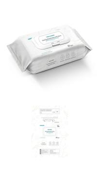 宝宝舒适消毒湿巾包装平面展开图